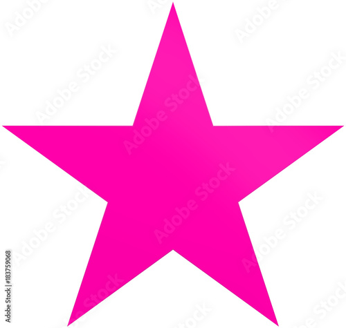 Christmas star purple - simple 5 point star - isolated on white