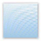 Ripple texture. Water depth. Thin line wave background. Linear halftone. Banner, card, poster. Vector illustration. - 183760881