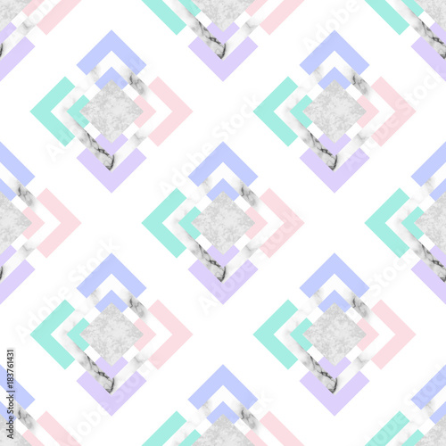 Vector trendy geometric background. Modern scandinavian design for poster, card, invitation template, covers and layouts - 183761431