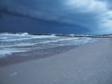 Stormy clouds upon the sea - 183765661