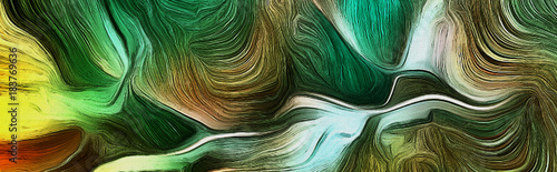 Fluid lines of green colors movement © rolffimages