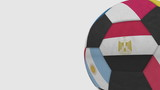 Football ball featuring different national teams accents flag of Egypt. 3D rendering - 183773895