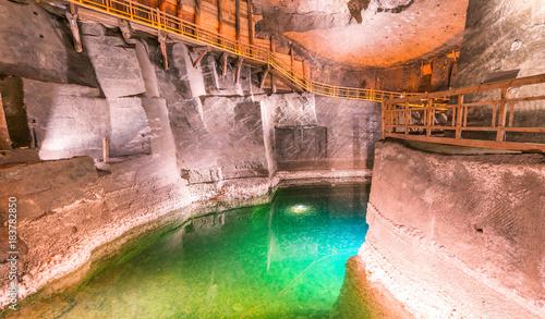 Wieliczka Salt Mine interior in Poland