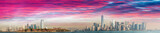 Jersey City, Ellis Island and Manhattan, view at dusk - 183787288