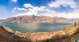 Beautiful panoramic view of Como Lake on a sunny day - 183792426