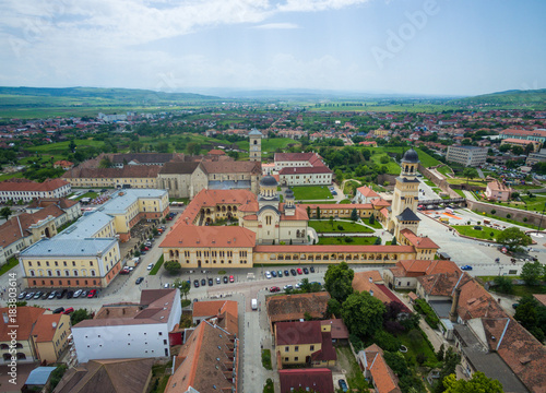 Wall mural Alba Iulia City view from above
