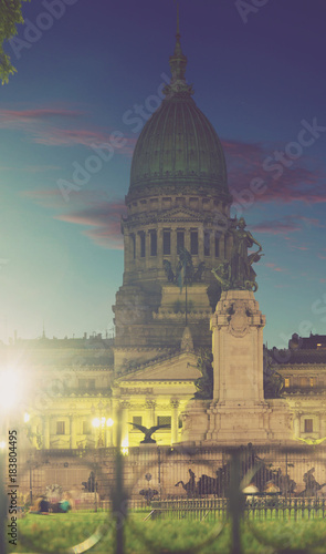 Papiers peints Buenos Aires Palace of National Congress in evening