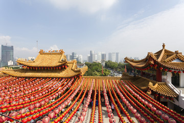 The Thean Hou Temple is a 6-tiered temple to the Chinese sea goddess Mazu located in Kuala Lumpur, Malaysia.
