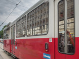 Old tram and Vienna State Opera - 183811031