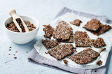Flax seeds crackers - 183812421