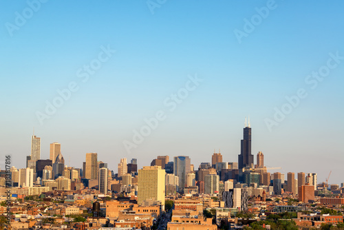 Foto op Canvas Chicago Chicago Cityscape View