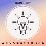 Light bulb - new ideas. Line icon - 183833691