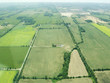 Quadro Aerial view of green fields in Ontario