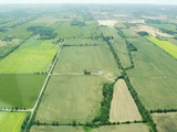 Aerial view of green fields in Ontario - 183837609