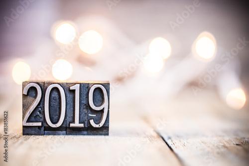 2019 Concept Vintage Letterpress Type Theme