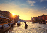 Sunset view of the Grand Canal in Venice
