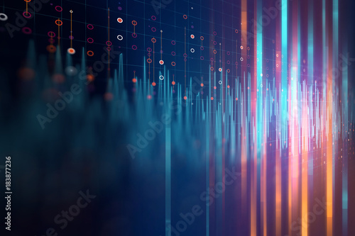 Fotobehang Abstract wave Audio waveform abstract technology background