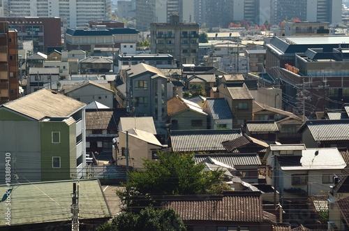 Deurstickers Kyoto 京都 山科区の街並み