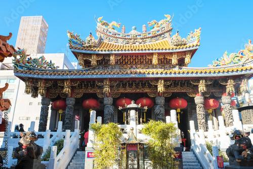 Foto op Canvas Blauw 関帝廟