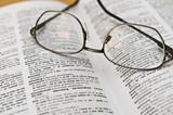 Wörterbuch mit Brille - 183915041