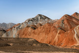 Rainbow mountains in asian geopark at China - 183918247