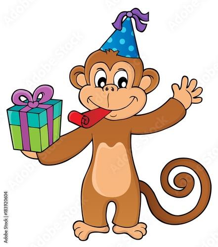 Plexiglas Voor kinderen Party monkey theme image 1