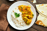 Chicken curry with rice - 183922046