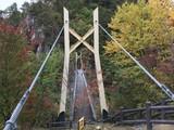 Suspension bridge at Setoai-kyo canyon in Tochigi prefecture of Japan. - 183927260