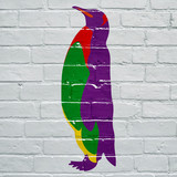 Graffiti, manchot pop art - 183929226