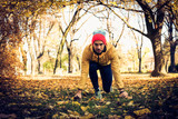 Man in nature exercise. On the move. - 183937868