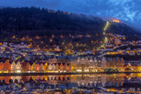 colored houses in Bergen