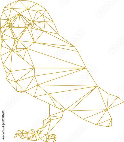 In de dag Uilen cartoon owl outline illustration