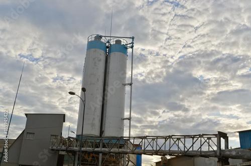 Staande foto Kiev Going concrete batching plant. Ukraine.