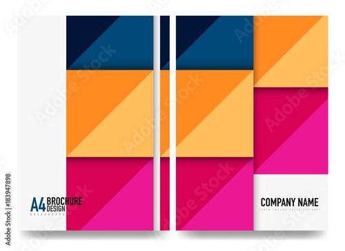 Square business a4 brochure cover design, flyer, annual report