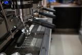 Empty espresso machine at counter - 183957658