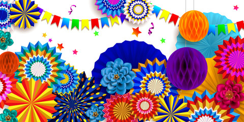 Carnival background.Design of children`s party poster 6