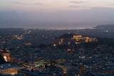 view of Athens and the Acropolis from the Mount Lycabettus at dusk - 183964046