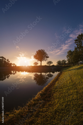 Lovely sunrise in the countryside