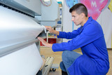 worker in printing company - 183975858