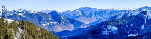 Foto op Canvas Donkerblauw view from wallberg mountain