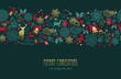 Christmas and new year deer pattern greeting card