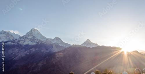 Keuken foto achterwand Blauwe hemel Nevado, montaña