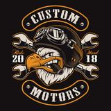 Eagle biker t-shirt design (color version)