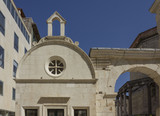 Architectural view of Diocletian palace in Split at day time in summer season