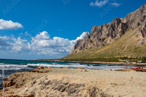 Tuinposter Palermo Mountains on the sea