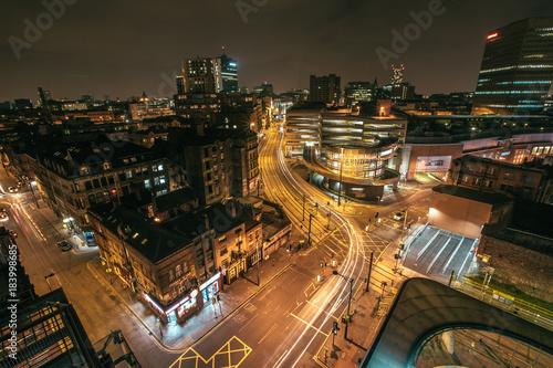 Foto op Aluminium Nacht snelweg Above the City