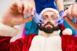 Santa Claus in beauty spa. - 184002001