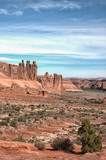 Three Kings formation in Arches National Park, Utah - 184010280