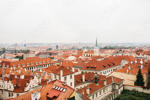 Tuinposter Praag View from above. Beautiful view of the architecture of Prague in the Czech Republic.