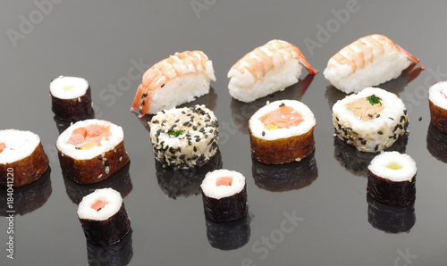 Tuinposter Sushi bar appetizing portion sushi